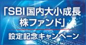 【最大5万円があたる!「SBI国内大小成長株ファンド」設定記念キャンペーン!