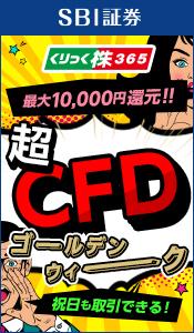 超CFDゴールデンウィーク!CFD手数料最大10,000円還元!