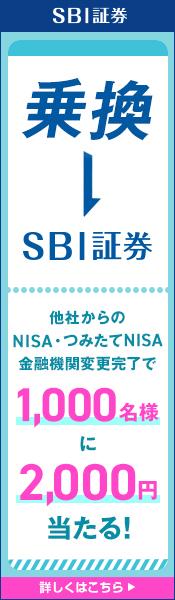 【NISA・つみたてNISA乗換キャンペーン】金融機関変更で1,000名様に2,000円が当たる!