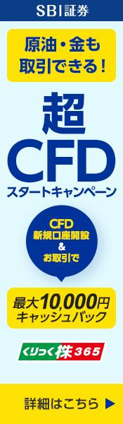 超CFDスタートキャンペーン!CFD手数料最大10,000円還元!