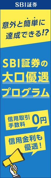 意外と簡単に達成できる!?SBI証券の大口優遇プログラム