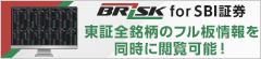 メインサイト全板®サービスに新機能追加 ~「BRiSK for SBI証券」導入のお知らせ~