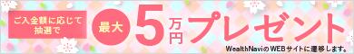 最大5万円プレゼント