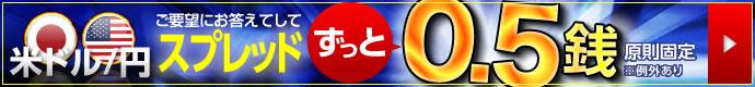 SBI FX α 米ドル/円 スプレッド縮小キャンペーン