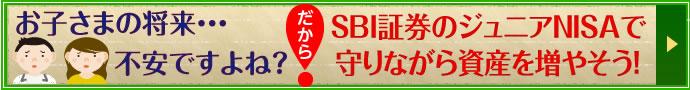 お子さまの将来・・・不安ですよね?SBI証券のジュニアNISAで守りながら資産を増やそう!