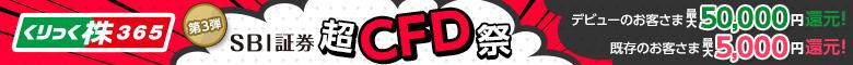 <第3弾>取引所CFD アプリ -くりっく株365リリース記念!SBI超CFD祭!