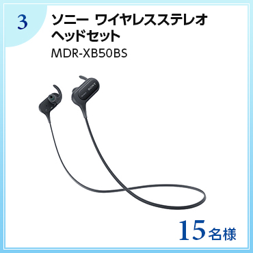 【15名様】ソニー ワイヤレスステレオヘッドセット MDR-XB50BS
