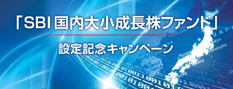 最大5万円があたる!「SBI国内大小成長株ファンド」設定記念キャンペーン!