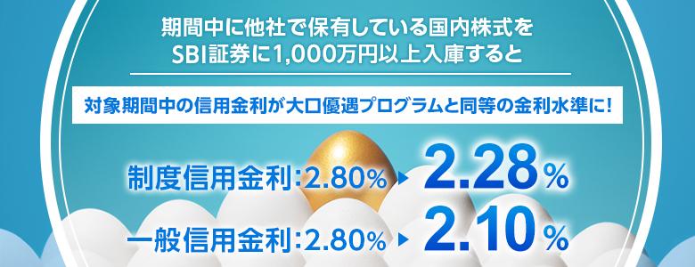 【ヨソで持っている株はありませんか?】国内株式1,000万円以上の入庫で信用金利を優遇!