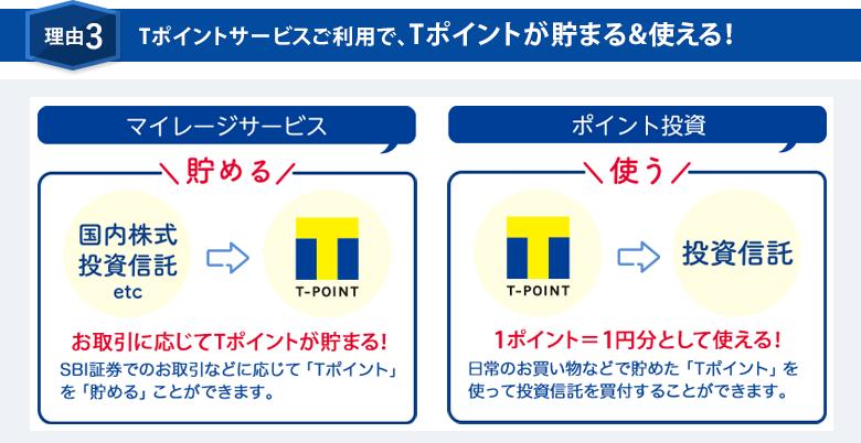 理由3 Tポイントサービスご利用で、Tポイントが貯まる&使える!
