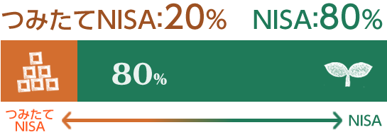 つみたてNISA 20% NISA 80%