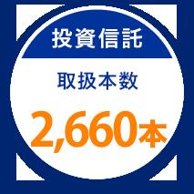 投資信託 取扱本数 2.660本